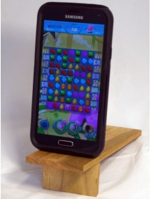 Wooden handcrafted mobile stand