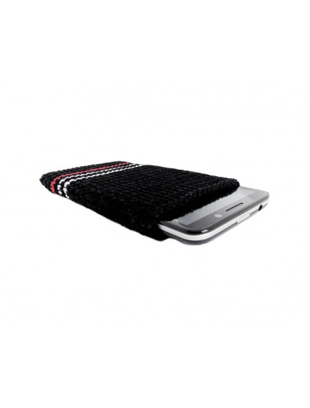 Mobile Crochet Case handmade Mobile cover  black multi