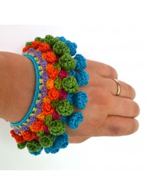 Crochet Handmade Bracelet blue red