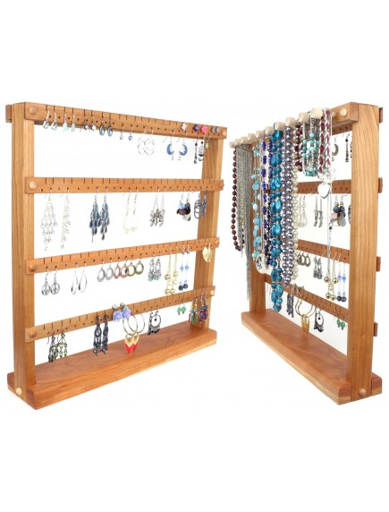 Wooden Cherry Earring and Necklace Holder - the Ladder