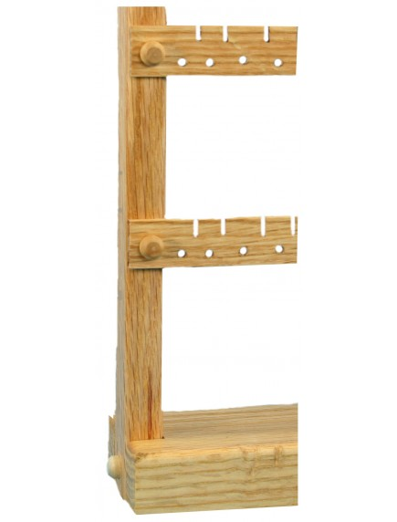 Wooden Cherry Earring and Necklace Holder - Slim Trim