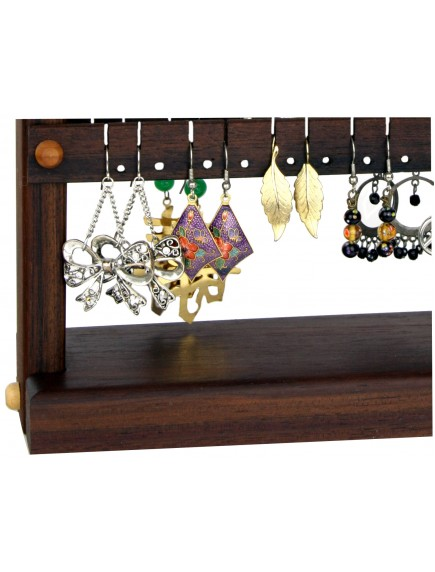 Wooden Cherry Earring Holder - Choclaty