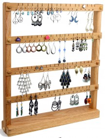 Wooden Cherry Earring Holder - Oak