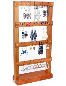 Wooden Cherry Earring and Necklace Holder - Cherry