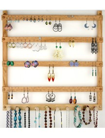 Wooden Earring & Necklace Holder wall mounted